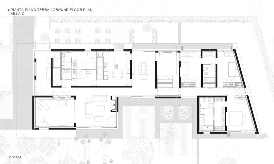 Villa g a sorengo for Piante di ville moderne