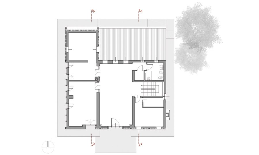 First floor plan © Bruno Stocco Architetto