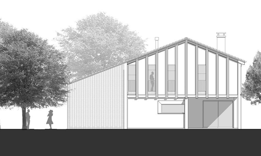 West Elevation © Bruno Stocco Architetto