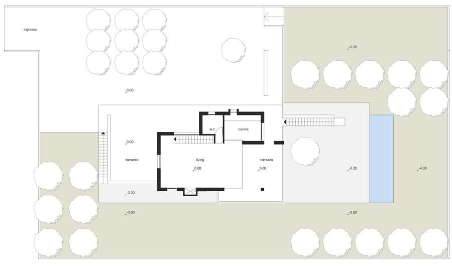 Ground floor plan © Lillo Giglia