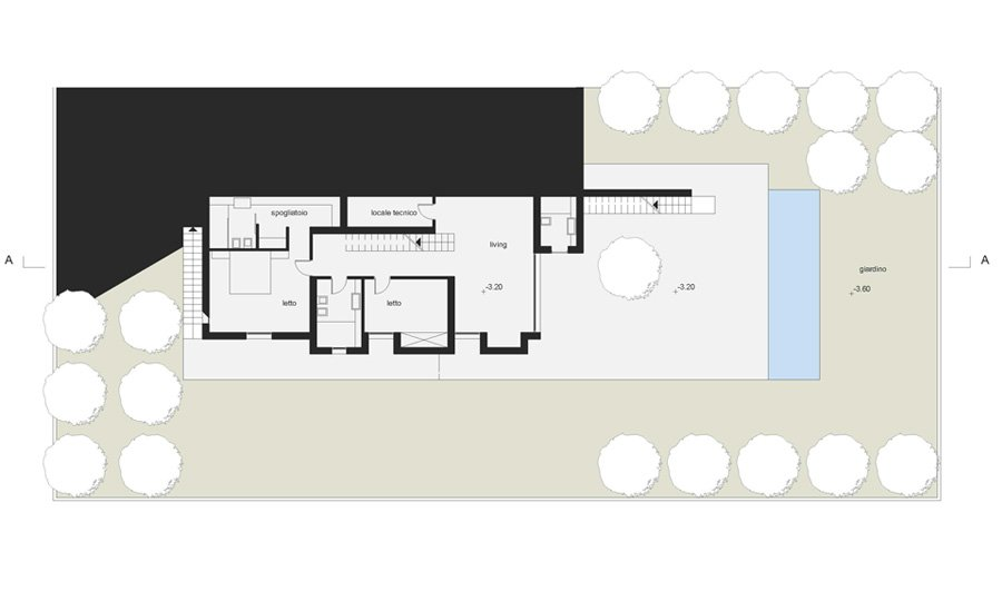 Basement floor plan © Lillo Giglia