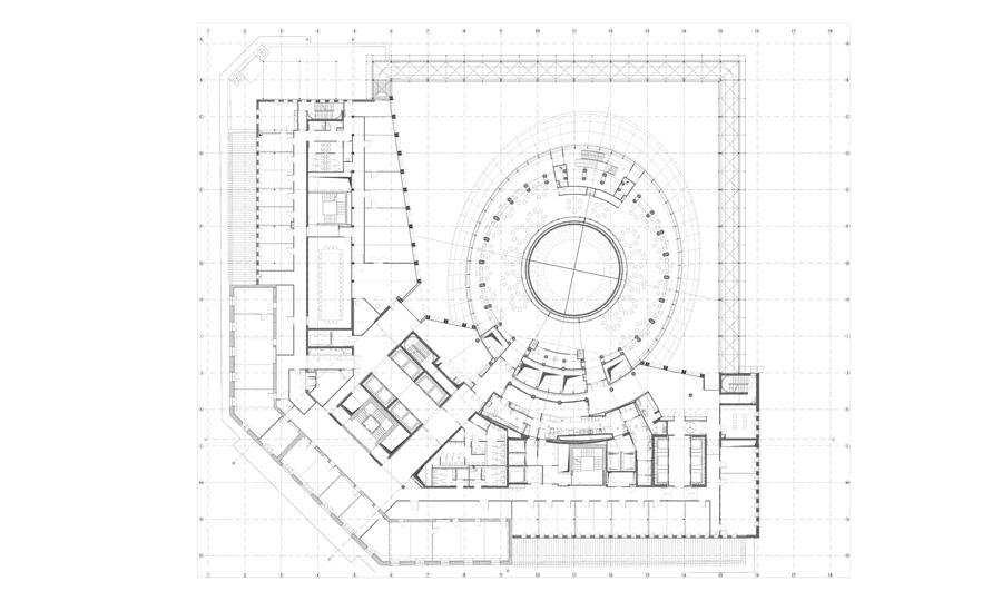 Pianta piano decimo © Philippe SAMYN and Partners architects & engineers