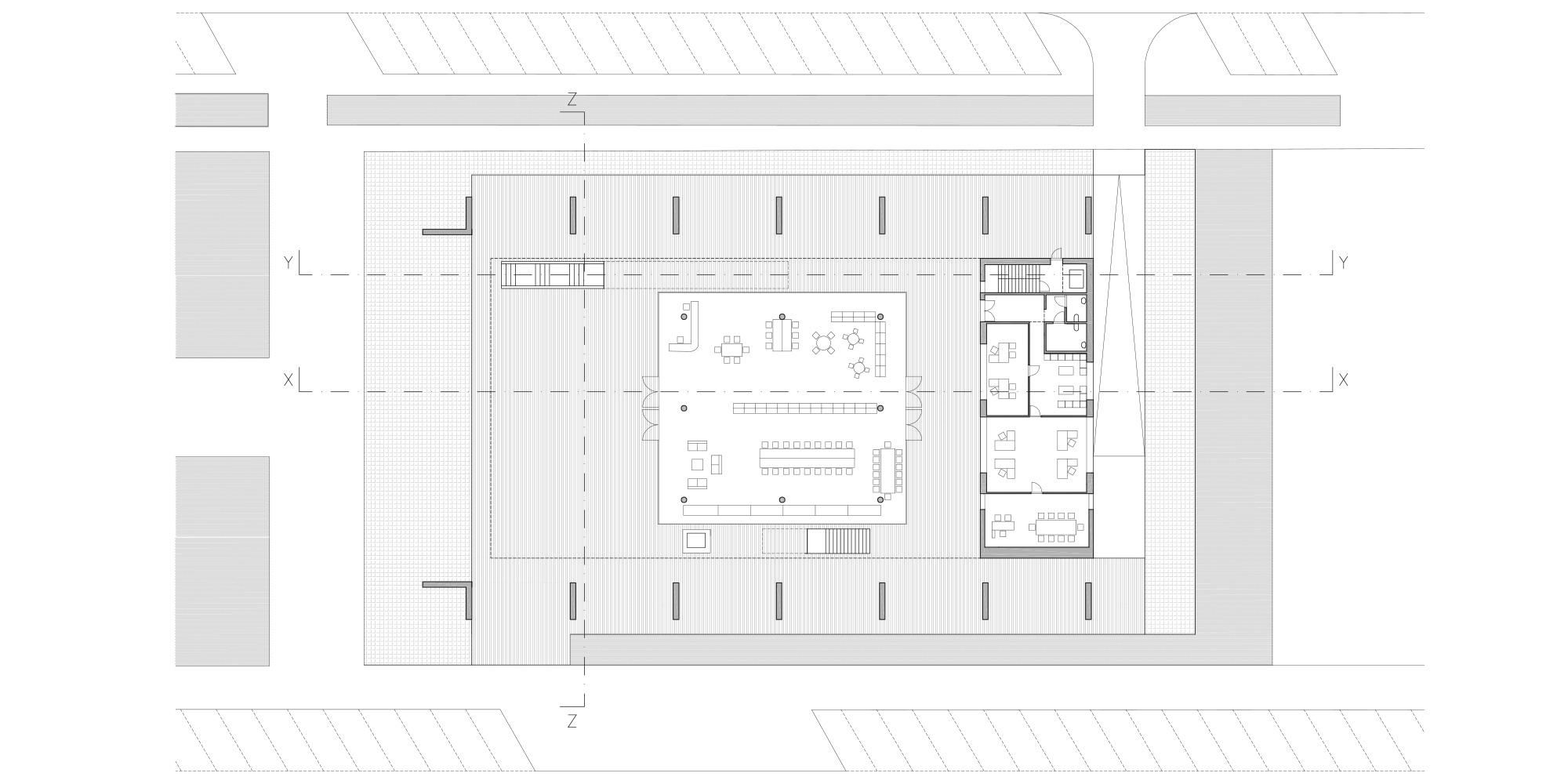 Ground Floor Plan © Rafael de La-Hoz