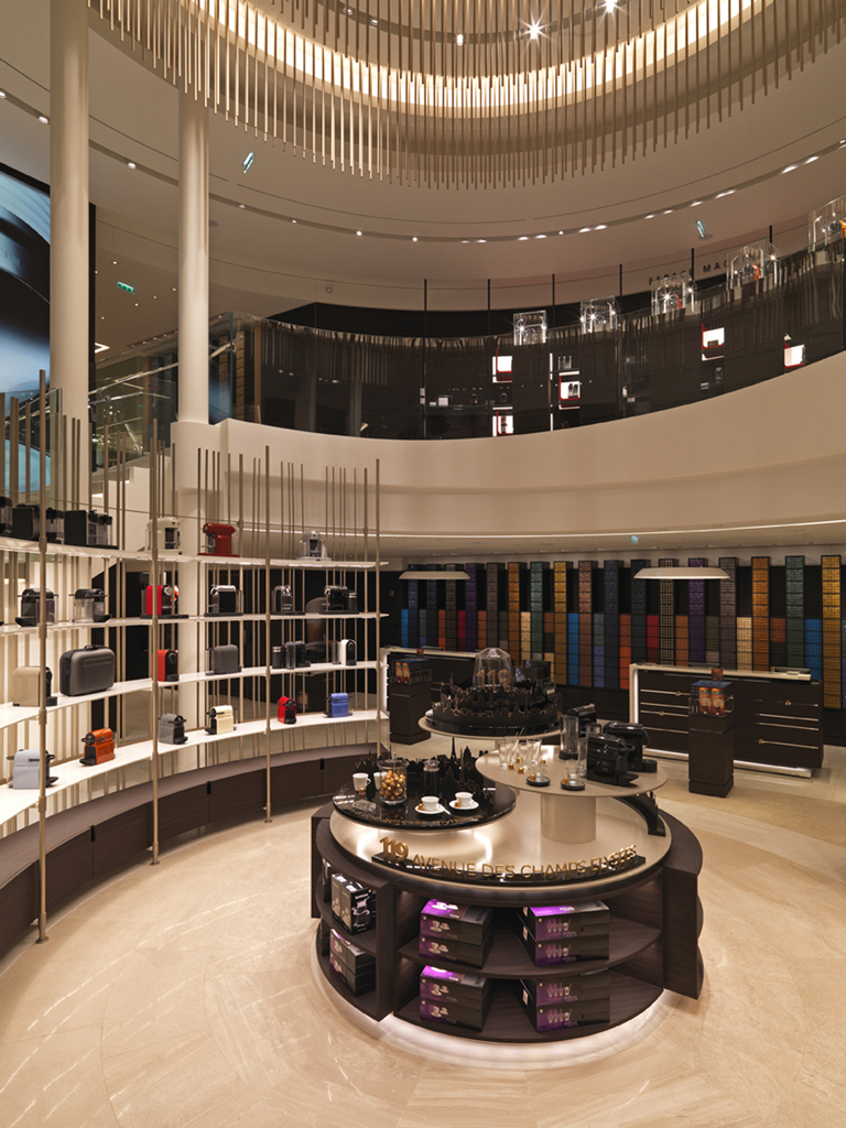nespresso flagship paris champs elysees. Black Bedroom Furniture Sets. Home Design Ideas