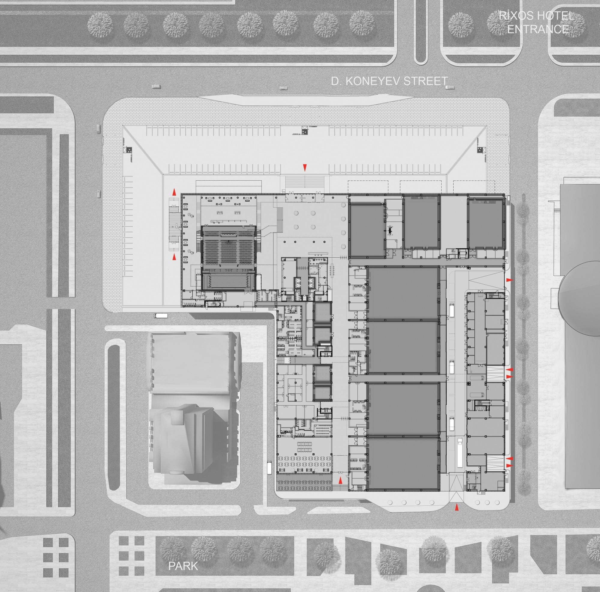 Ground Floor Plan © Tabanlioglu Architects