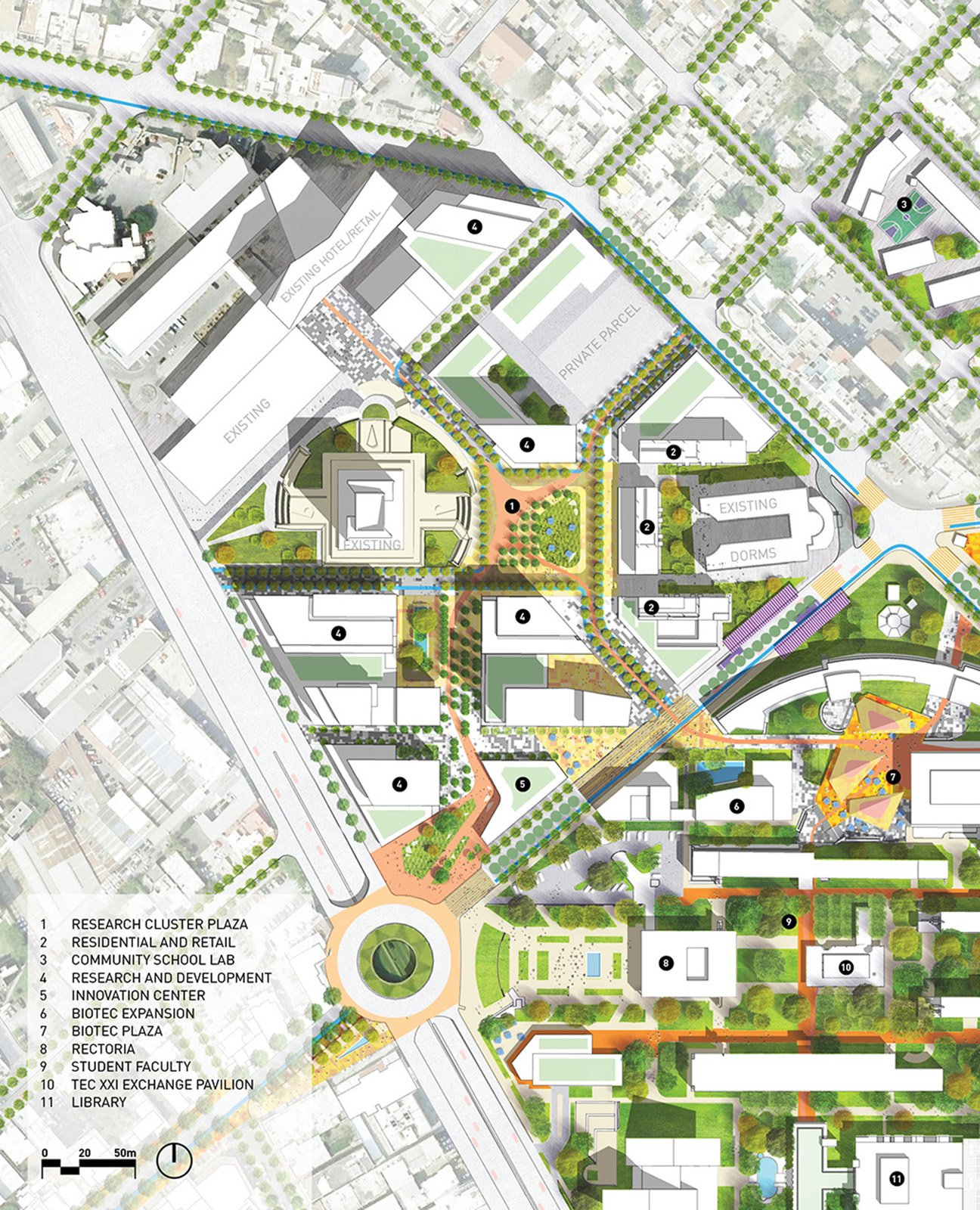 Sasaki associates regeneracion a vision for the campus and district for Subdivision planning and design