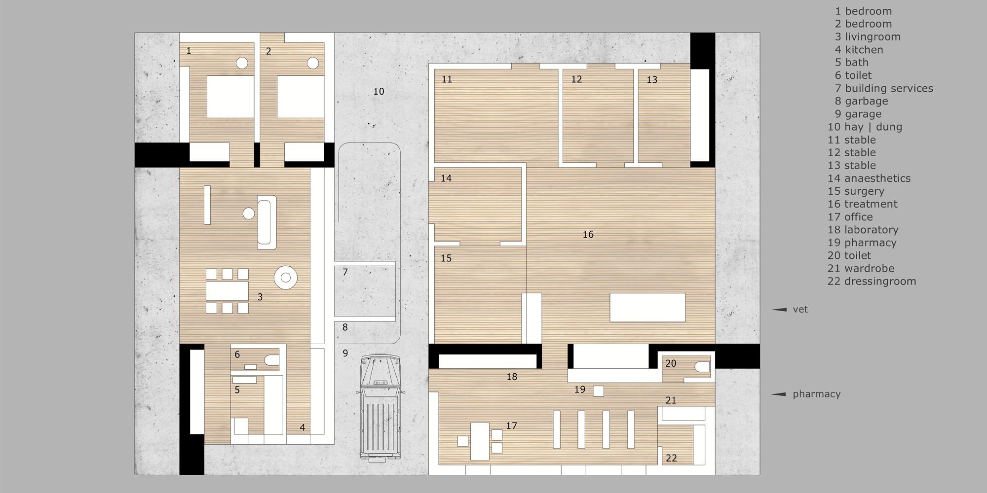 Pianta Piano Terra © Marte.Marte Architekten