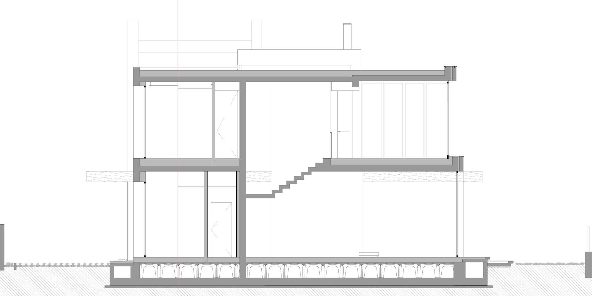 Sezione AA © Giraldi Associati Architetti