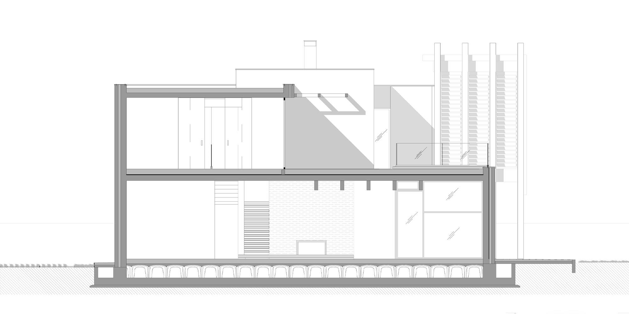 Sezione BB © Giraldi Associati Architetti