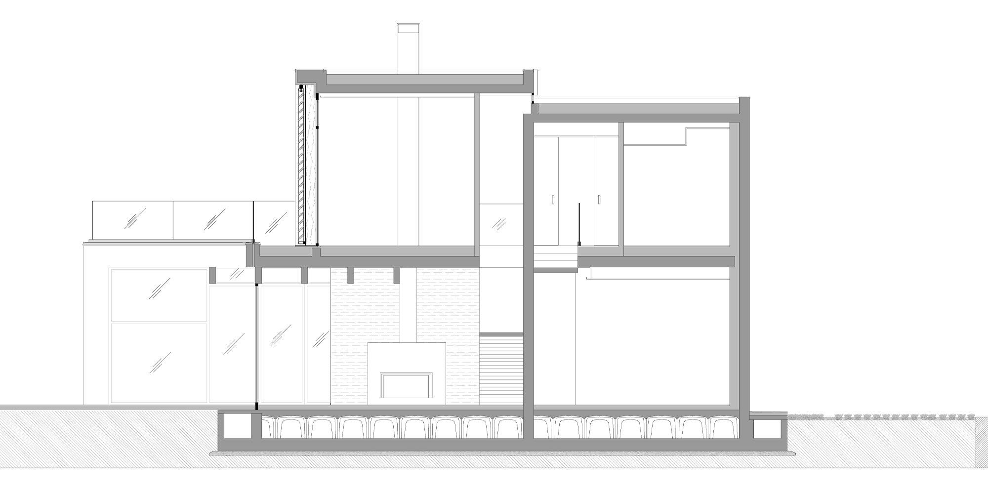 Sezione CC © Giraldi Associati Architetti