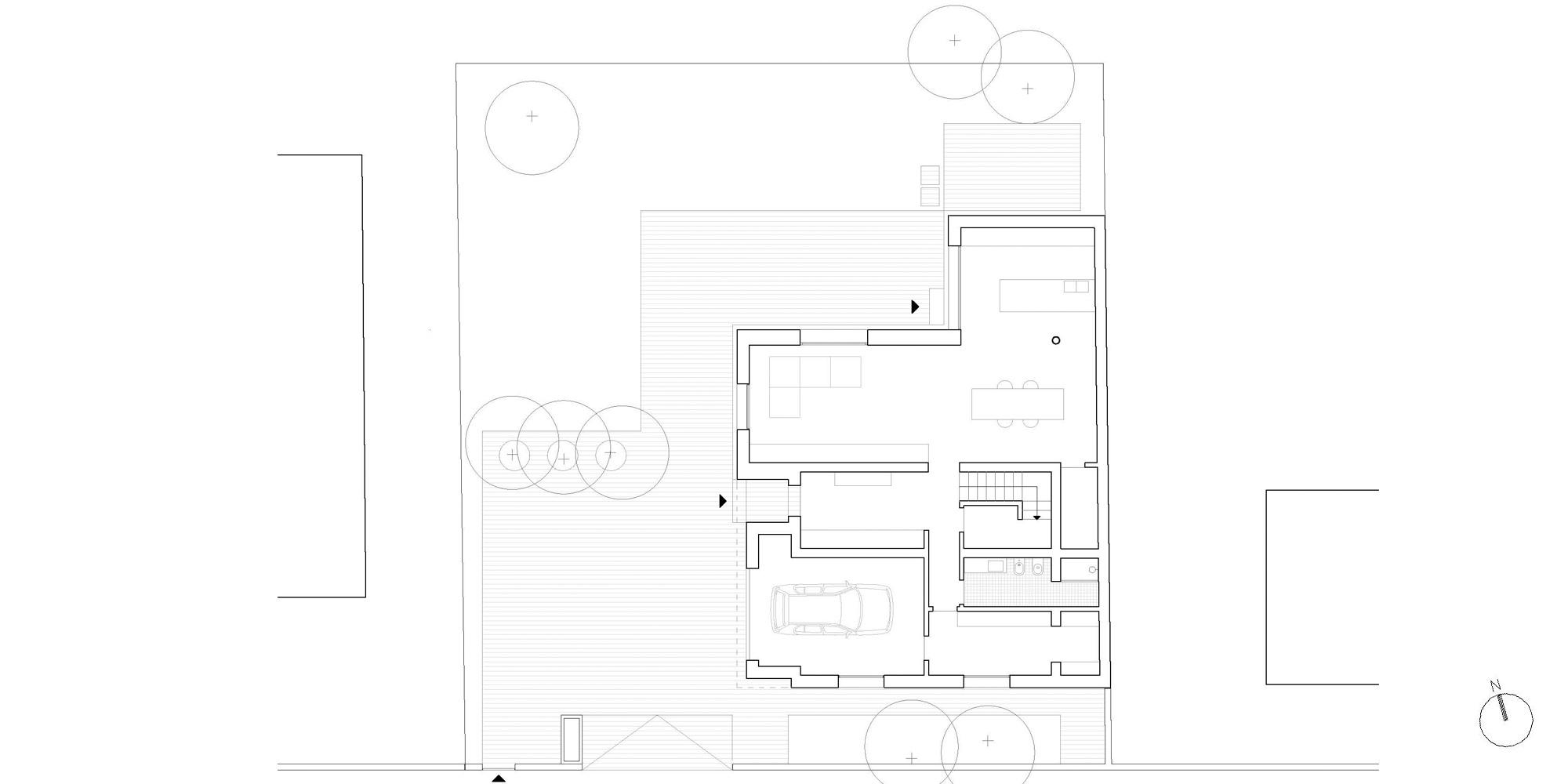 Pianta piano terra © MIDE architetti