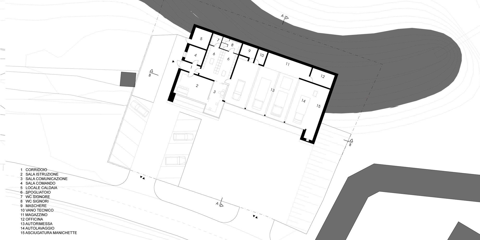 Pianta Piano Terra © Roland Baldi Architects