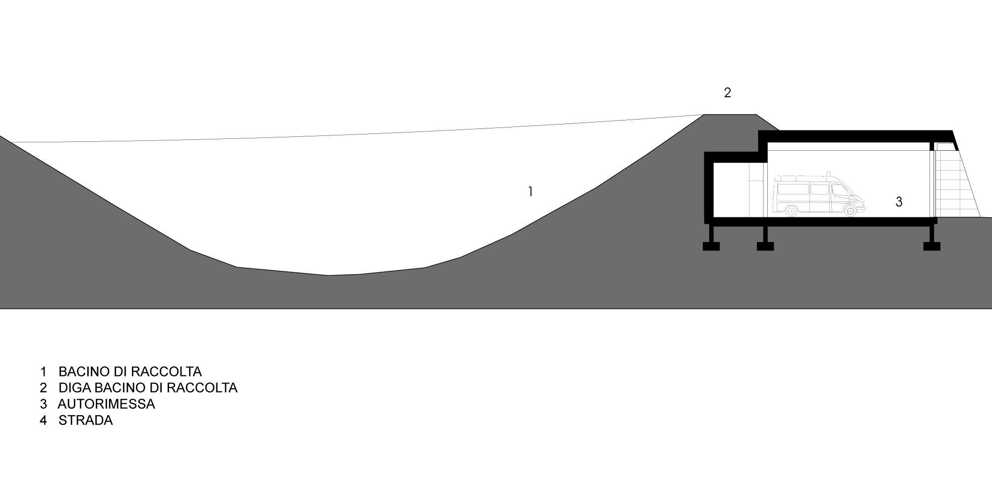 Sezione AA © Roland Baldi Architects