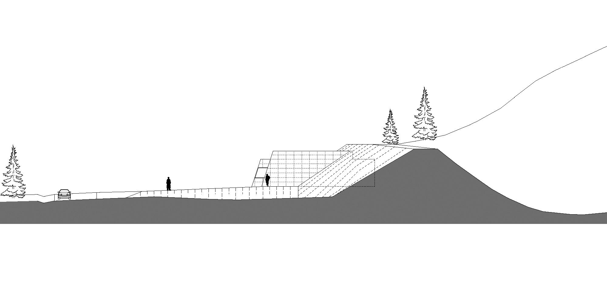 Prospetto Est © Roland Baldi Architects