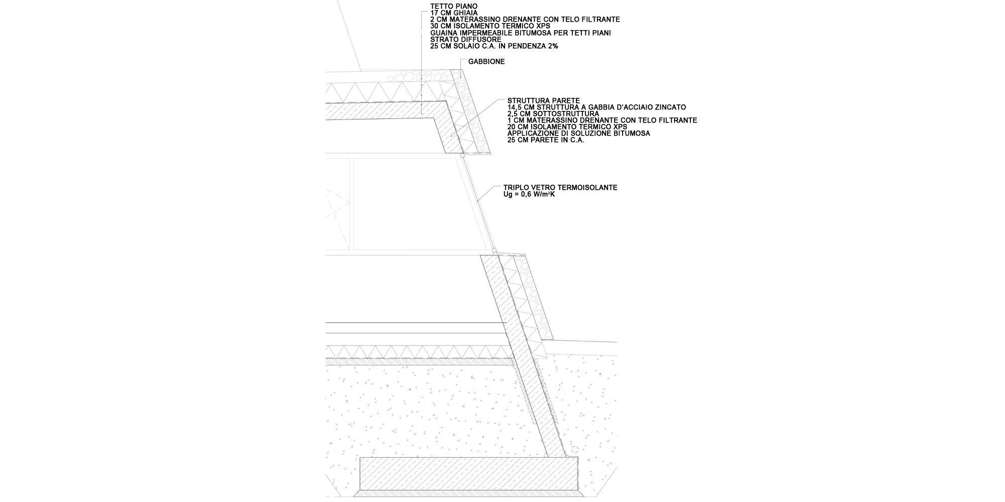 Dettaglio A © Roland Baldi Architects