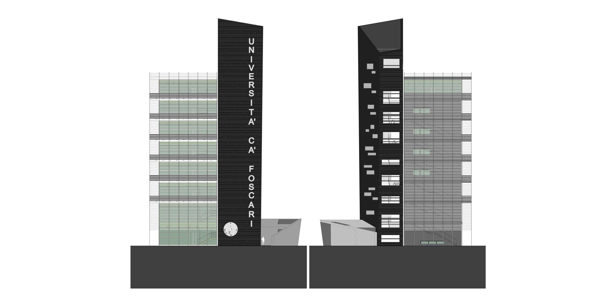 Prospetto Sud-Ovest © Studio Architetti Mar