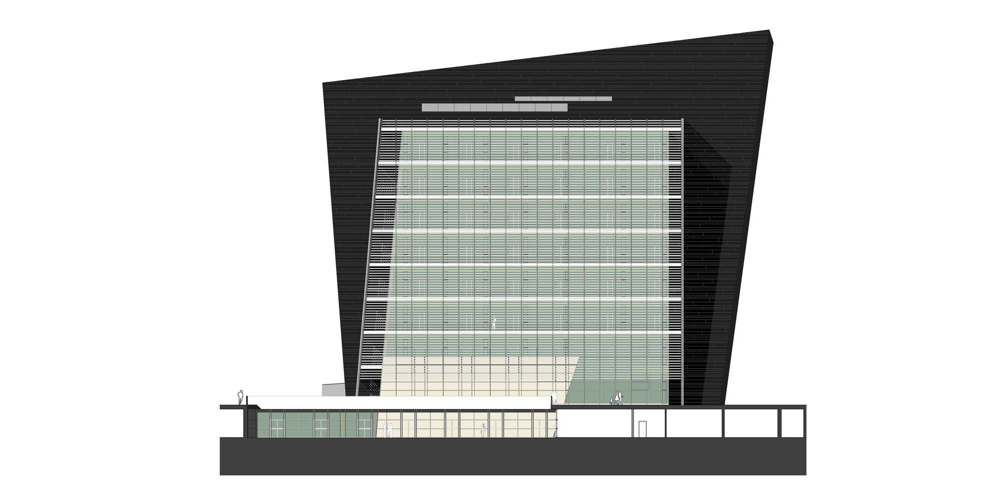 Prospetto Nord-Ovest © Studio Architetti Mar