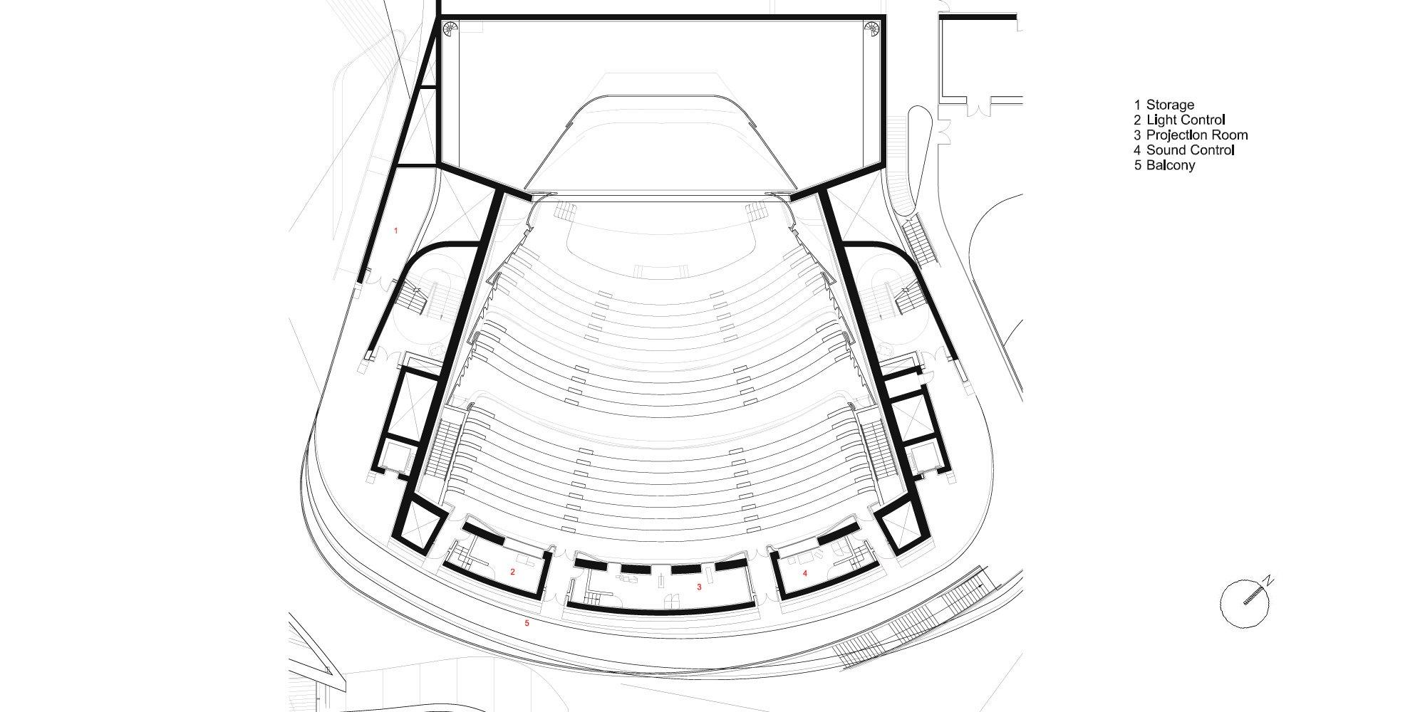 Pianta Piano Primo © Zaha Hadid Architects