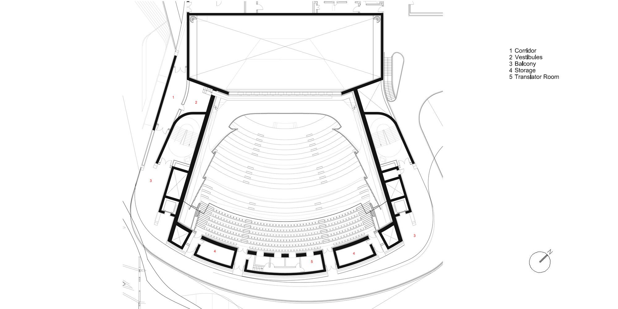 Pianta Piano Secondo © Zaha Hadid Architects