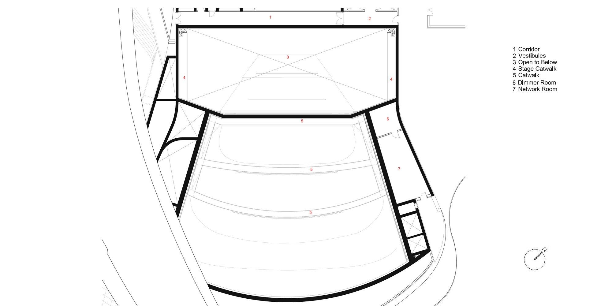 Pianta Piano Terzo © Zaha Hadid Architects