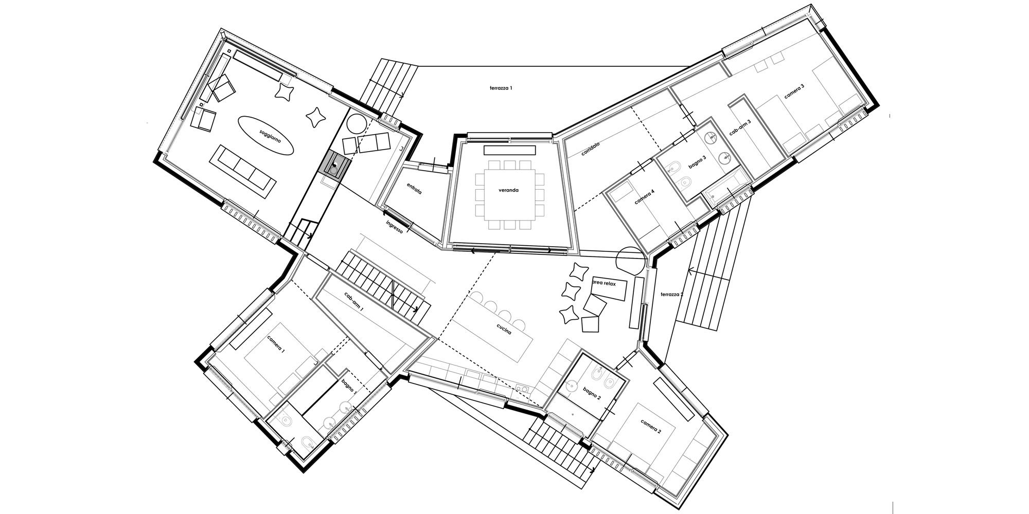 Pianta Piano Terra © ZDA Zanetti Design Architettura