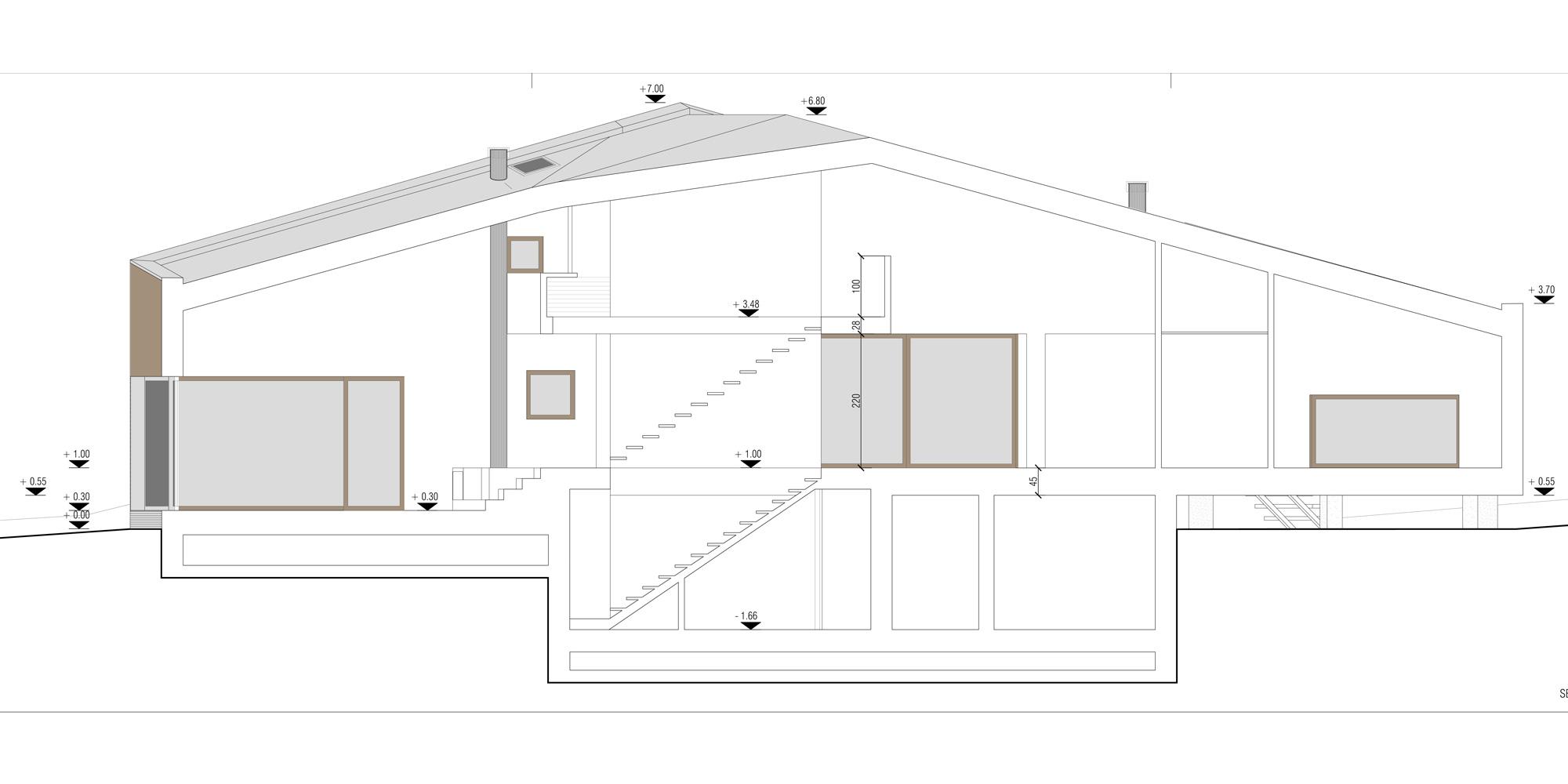 Sezione AA © ZDA Zanetti Design Architettura