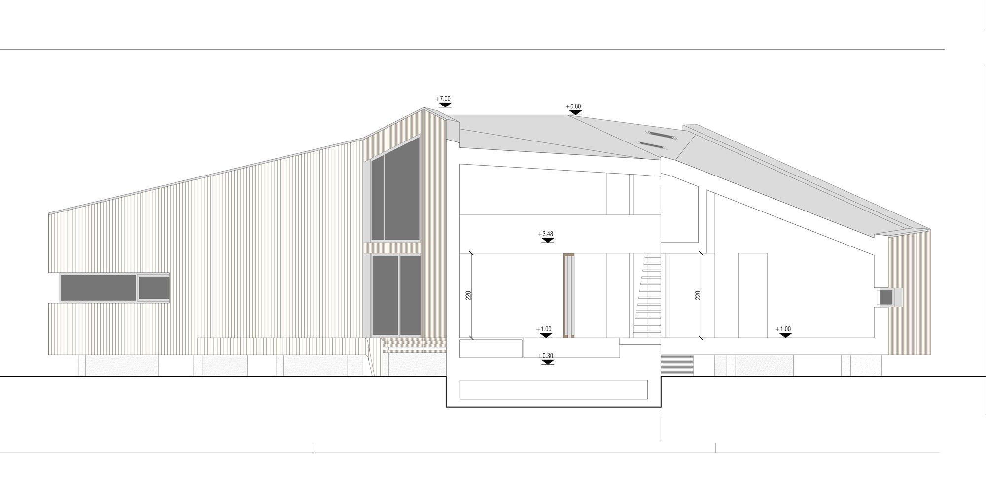 Sezione BB © ZDA Zanetti Design Architettura