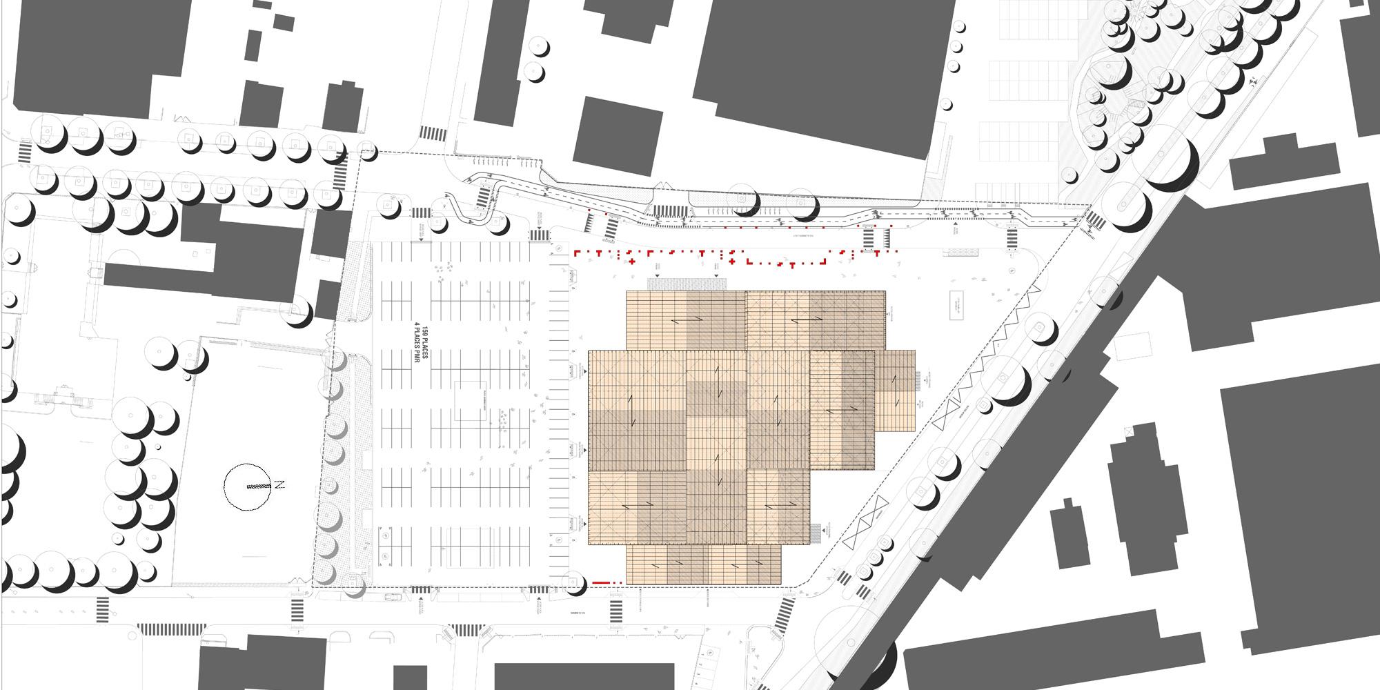 Planimetria © Manuelle Gautrand Architecture