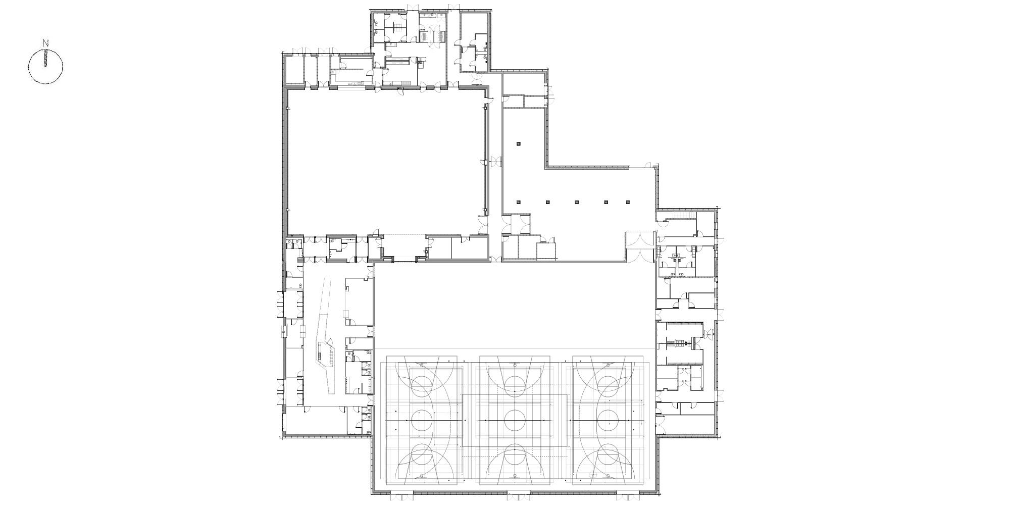 Pianta Piano Terra © Manuelle Gautrand Architecture