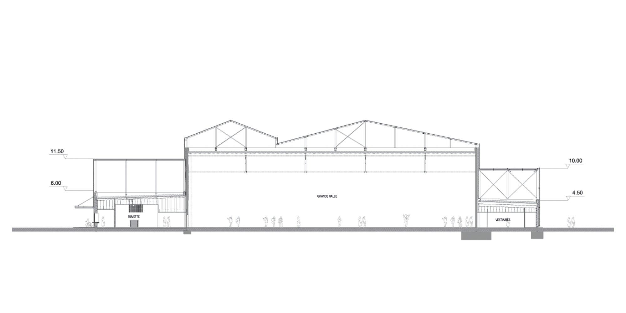 Sezione BB © Manuelle Gautrand Architecture