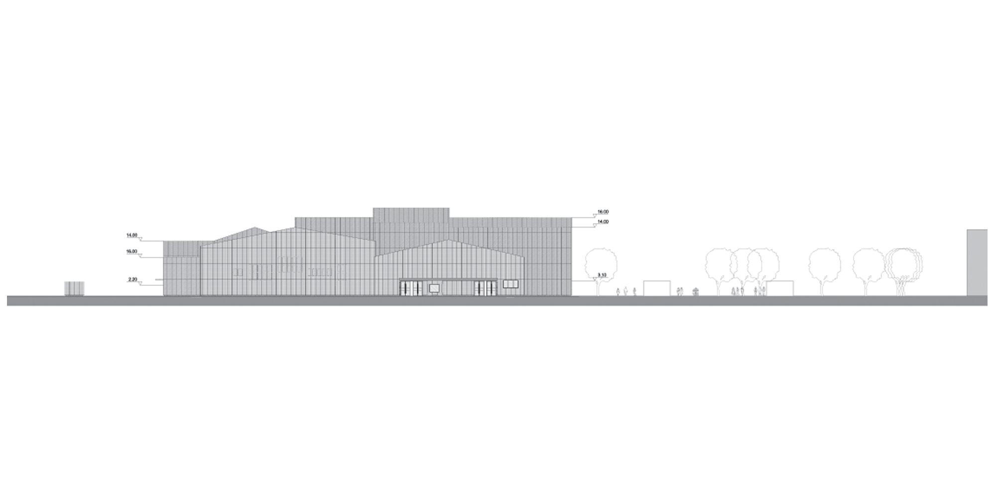 Prospetto Est © Manuelle Gautrand Architecture