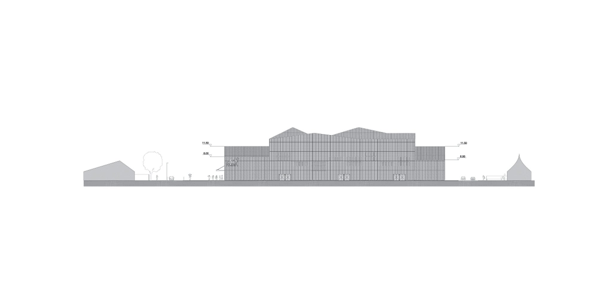 Prospetto Sud © Manuelle Gautrand Architecture
