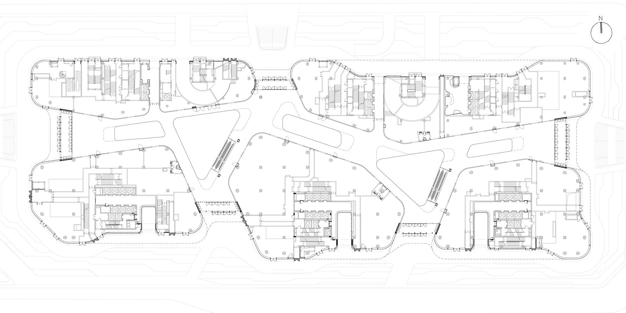 Pianta Piano Primo © gmp - von Gerkan, Marg and Partners Architects