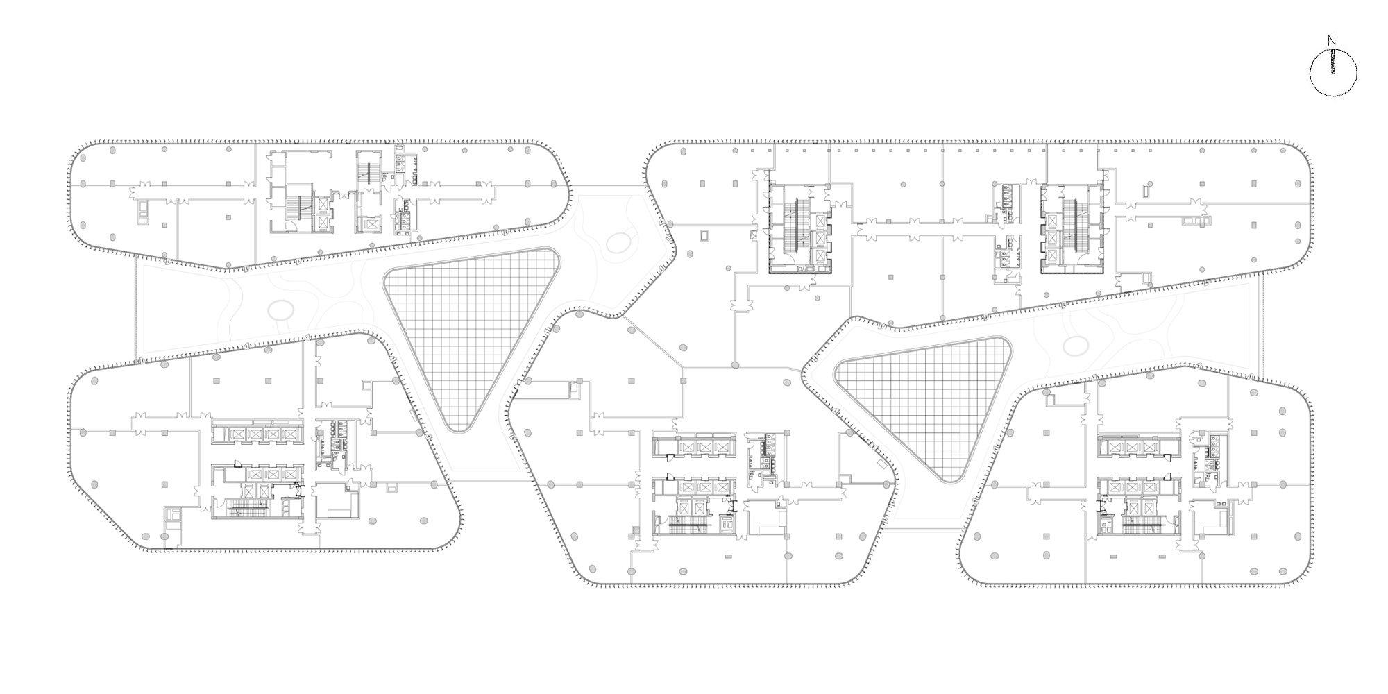 Pianta Piano Terzo © gmp - von Gerkan, Marg and Partners Architects