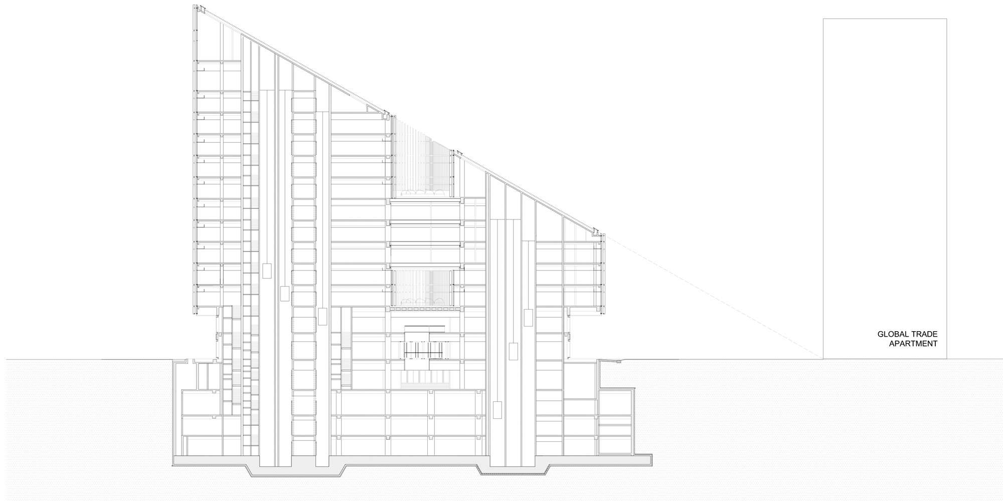 Sezione © gmp - von Gerkan, Marg and Partners Architects