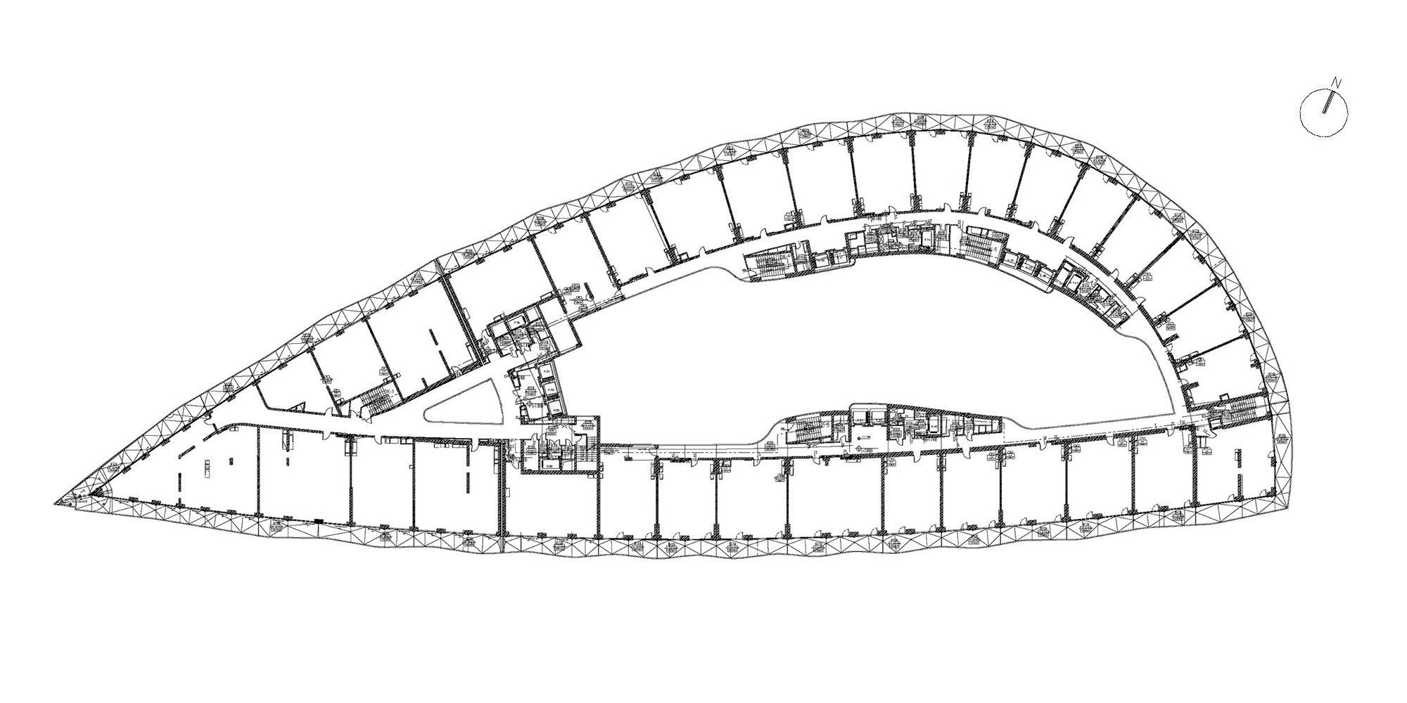 Piante piano tipo © SPEECH Architectural Office