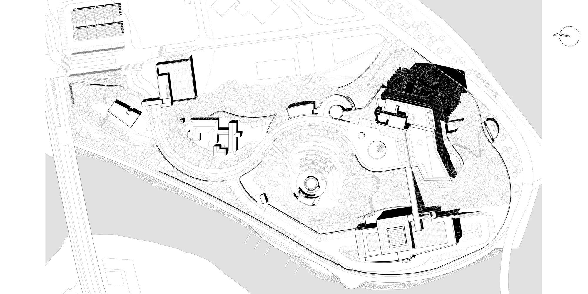 Site Plan © Richard Meier & Partners Architects