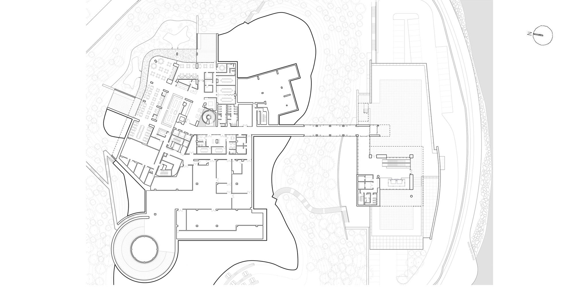 1st Floor Plan © Richard Meier & Partners Architects