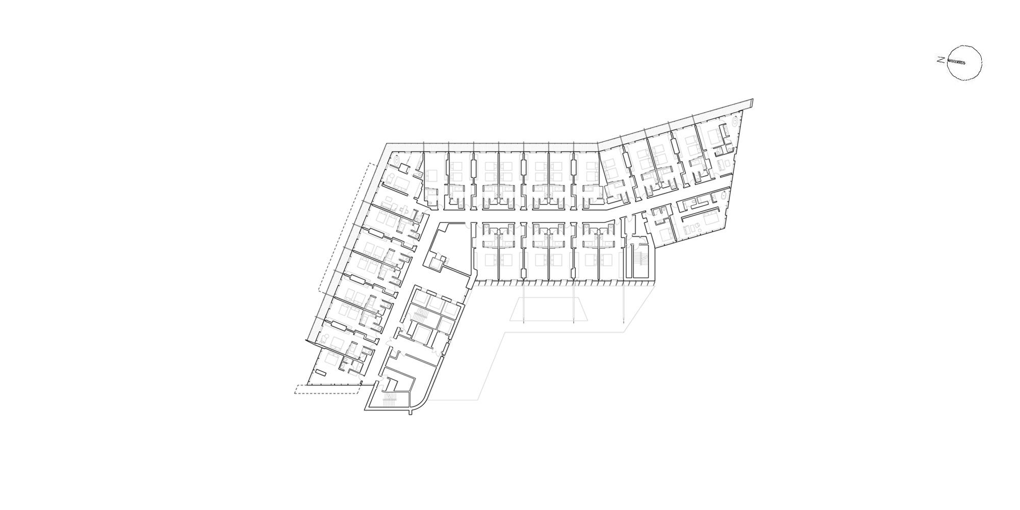 3rd Floor Plan © Richard Meier & Partners Architects