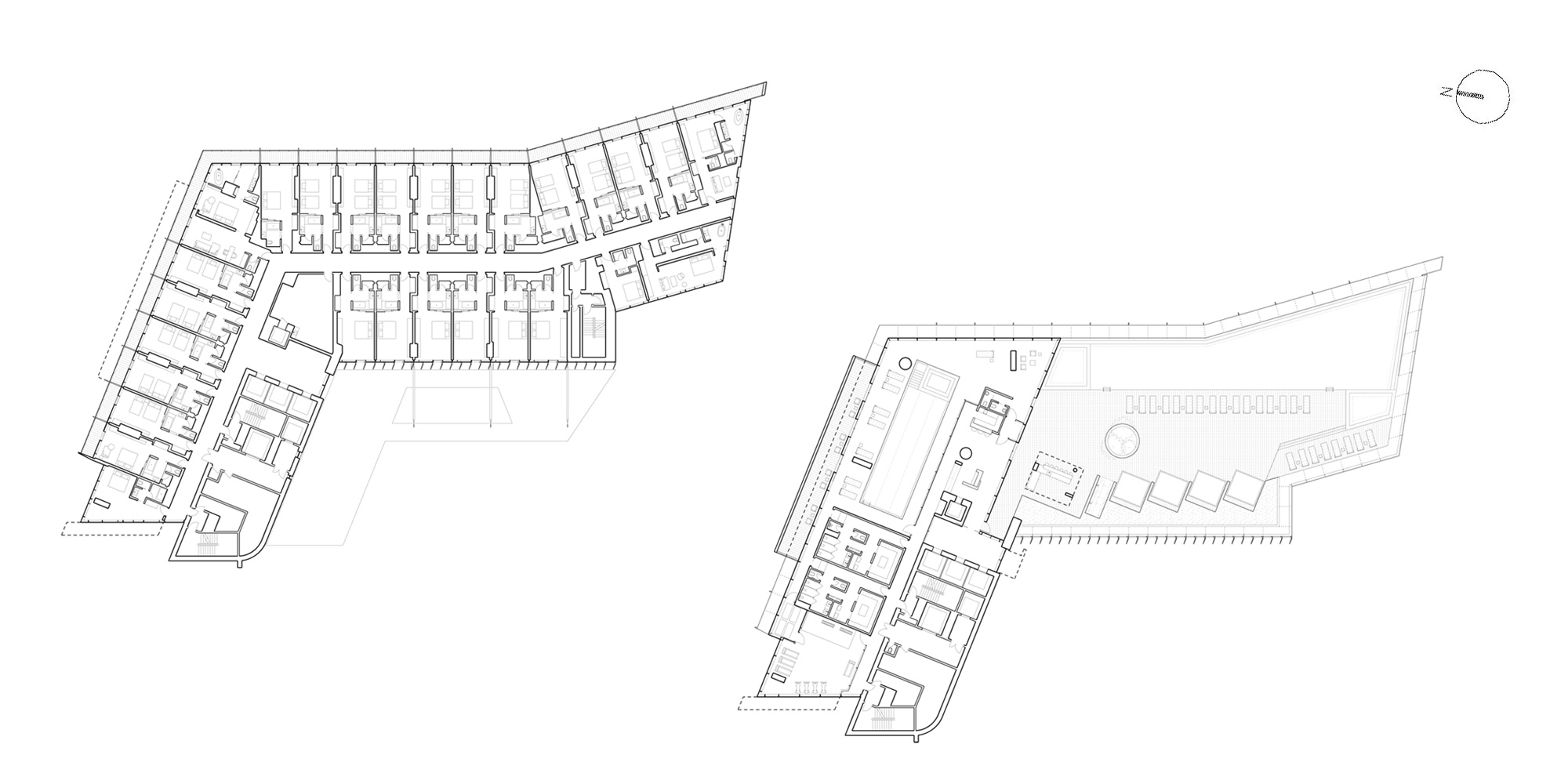 Fourth and Fifth Floor Plan © Richard Meier & Partners Architects