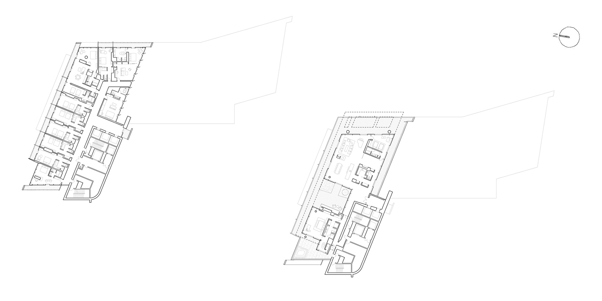 14th and 15th Floor Plan © Richard Meier & Partners Architects