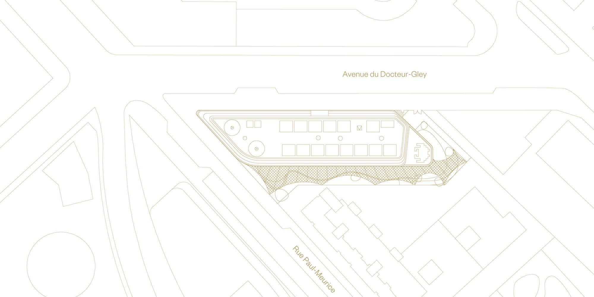 Site Plan © Avenier Cornejo Architectes