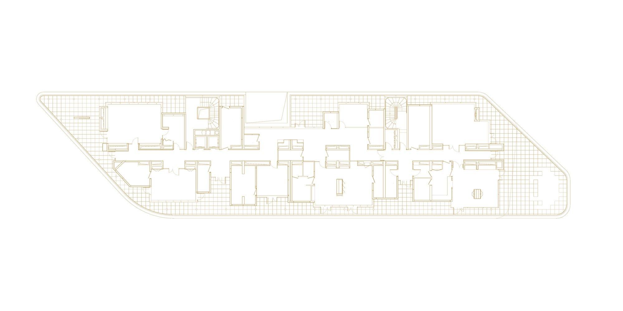 3rd Floor Plan © Avenier Cornejo Architectes