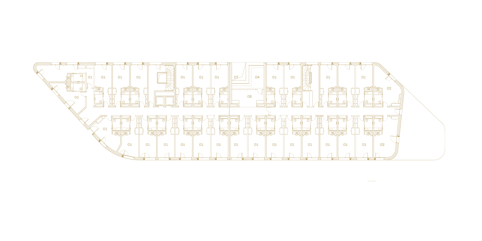 6th Floor Plan © Avenier Cornejo Architectes
