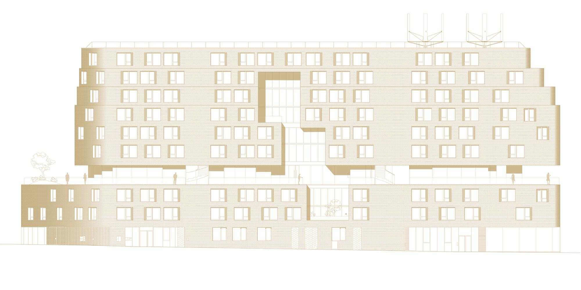 North Elevation © Avenier Cornejo Architectes