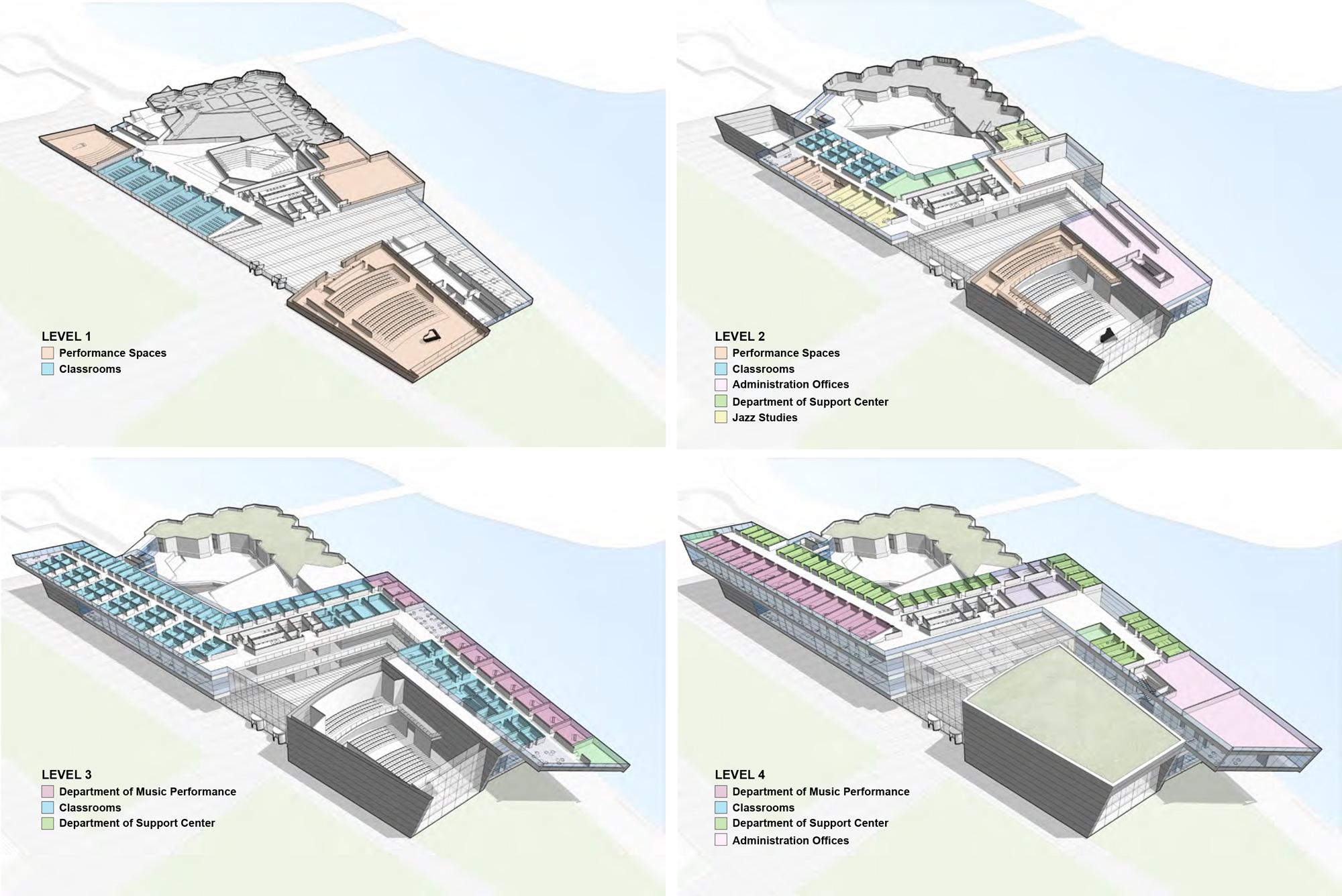 Axonometric Floor Plan © Goettsch Partners