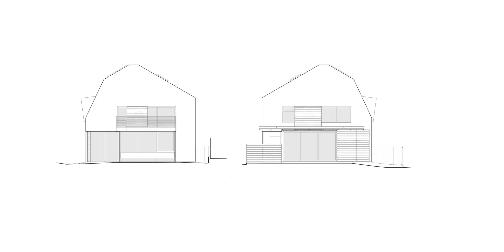 Prospetti Est e Ovest © Koning Eizenberg Architecture