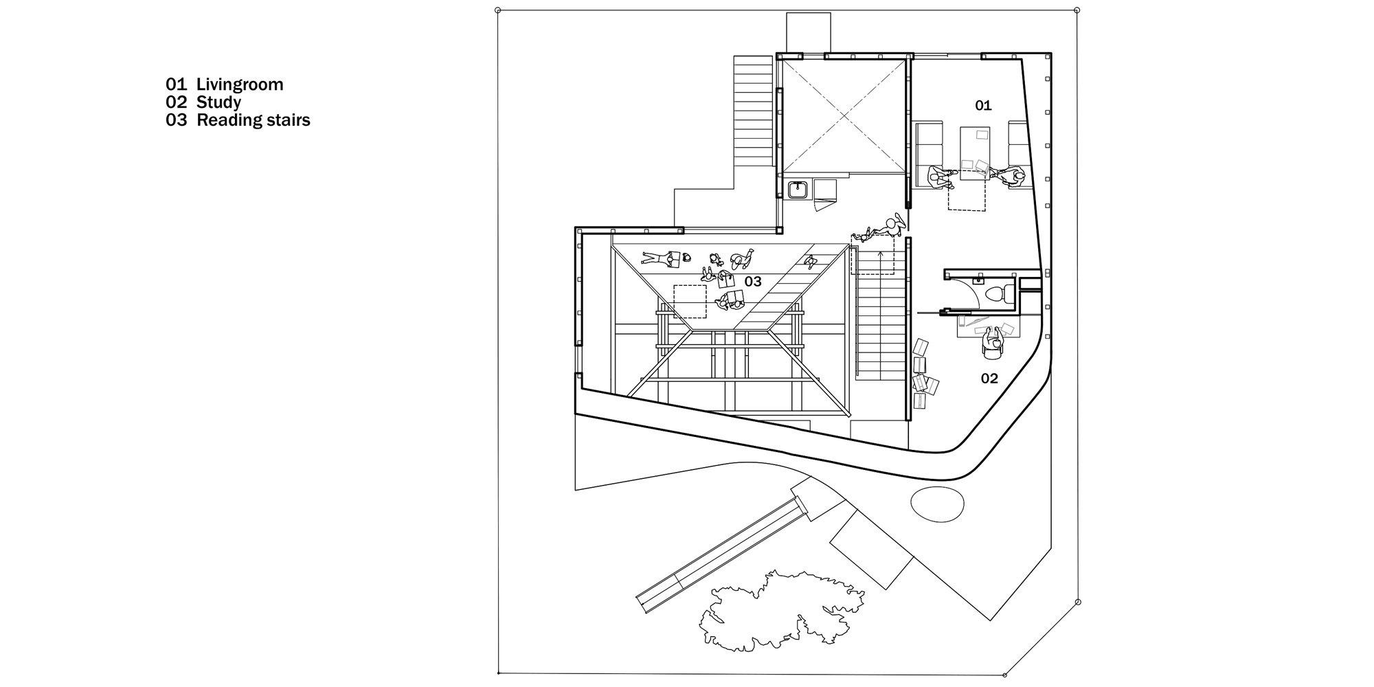 Pianta Piano Secondo © MAD Architects