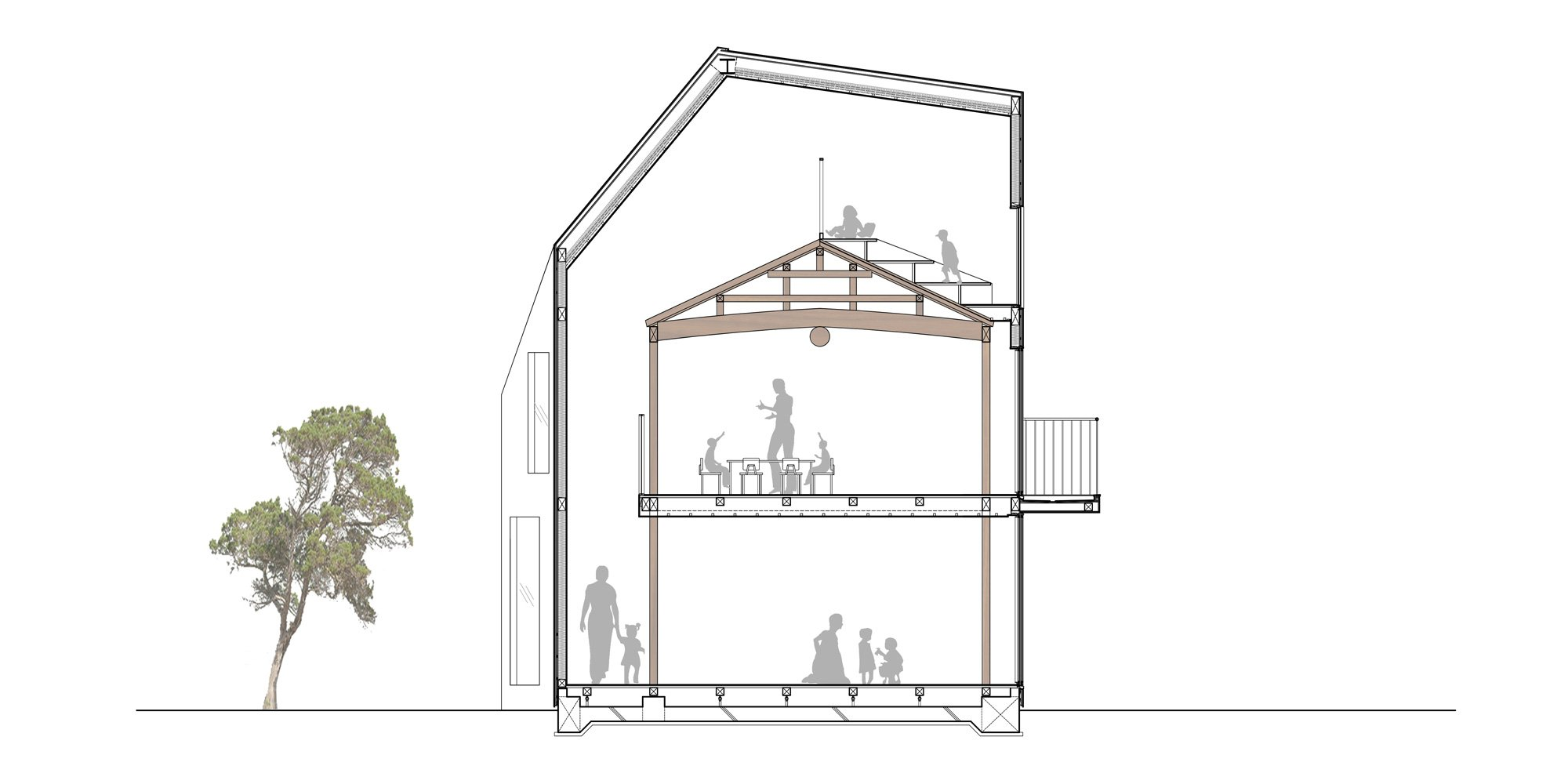 Sezione Trasversale © MAD Architects