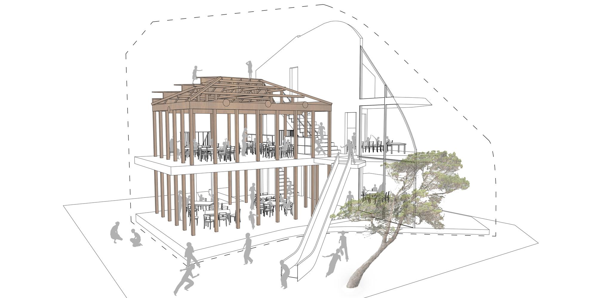 Spaccato assonometrico © MAD Architects